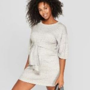 Maternity Tie Front Sweater Dress